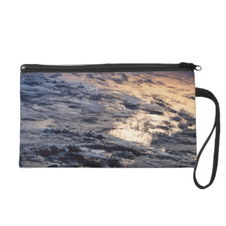 Earth Viewed from a Satellite Wristlet Purse