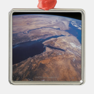 Earth Viewed from Space Metal Ornament