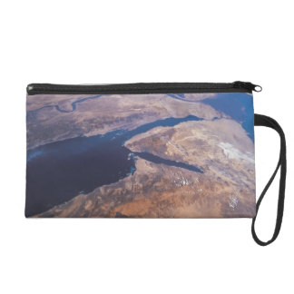 Earth Viewed from Space Wristlet Purse