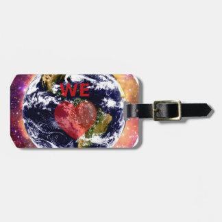 EARTH WE LOVE. TRAVEL BAG TAG