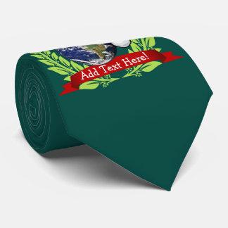 Earth Wearing a Santa Hat Christmas Tie