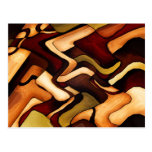 Earth Weave Fine Abstract Digital Postcards