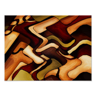 Earth Weave Fine Abstract Digital Poster
