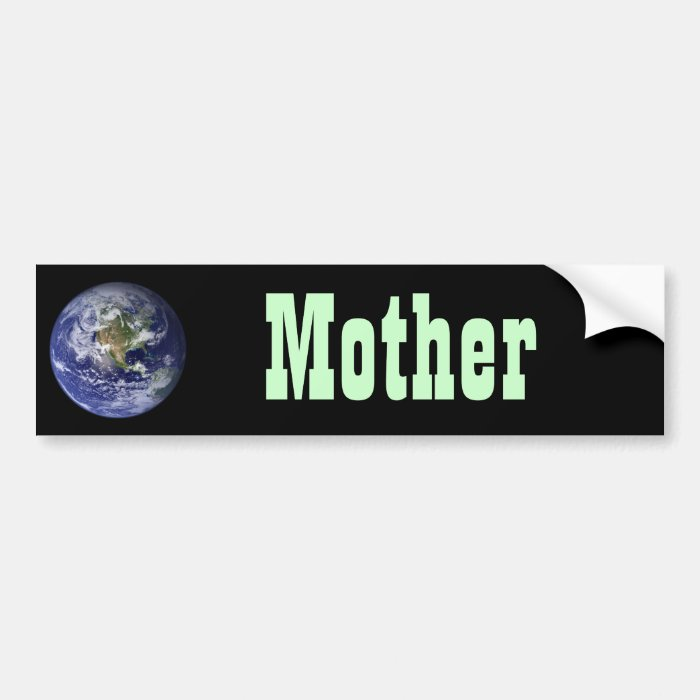 Earth - Western Hemisphere Bumper Sticker