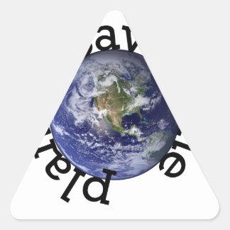 Earth_Western_Hemisphere_transparent_background.pn Calcomanías De Triangulos Personalizadas