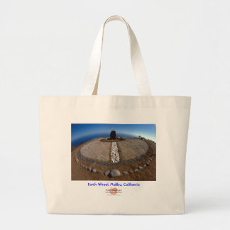 Earth Wheel/Bag Large Tote Bag