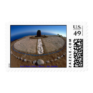 Earth Wheel/Stamp Postage Stamp