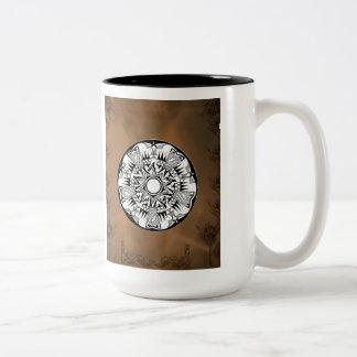 'Earth Wheel' Two-Tone Coffee Mug