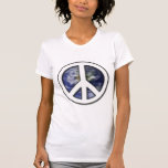 Earth White Peace Sign7 Tshirts