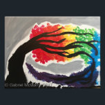 "Earth, wind and fire photo print<br><div class=""desc"">This is one of my most special paintings. I wanted to capture the color and the wind in the flow of the tree.</div>"