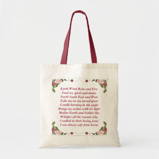 Earth Wind Rain and Fire Canvas Bags