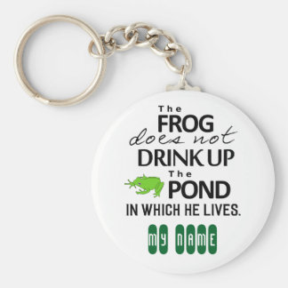Earth Wisdom - The Frog Does Not Drink Up... Basic Round Button Keychain