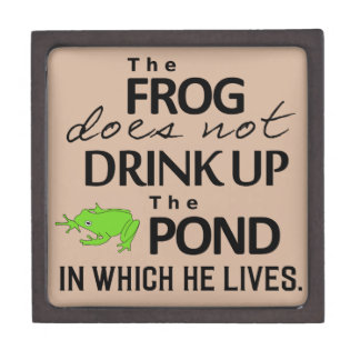 Earth Wisdom - The Frog Does Not Drink Up... Premium Keepsake Box