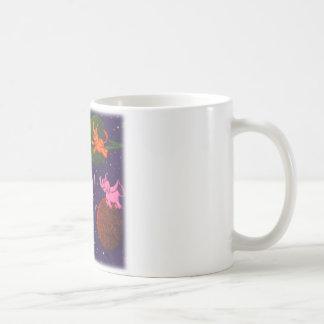 Earth with Flying Elephants Coffee Mug