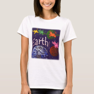 Earth with Flying Elephants T-Shirt