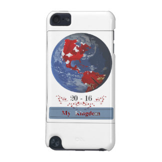 Earth with talk leaves continents iPod touch (5th generation) cover