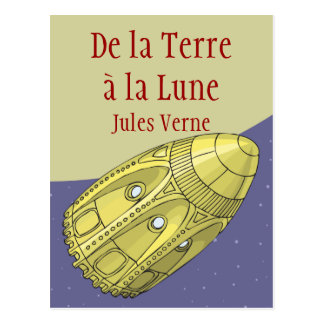Earth with the Moon - Jules Verne Postcard