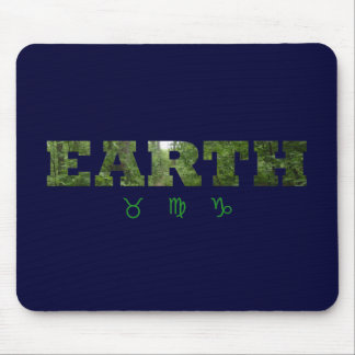 Earth with Zodiac Signs Mouse Pad