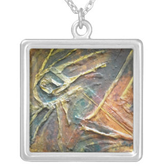 Earth Works Abstract Square Pendant Necklace