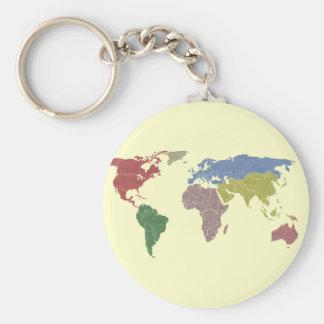 earth world cloth basic round button keychain