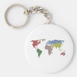 earth world cloth keychain