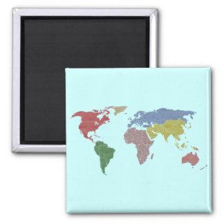earth world cloth magnet