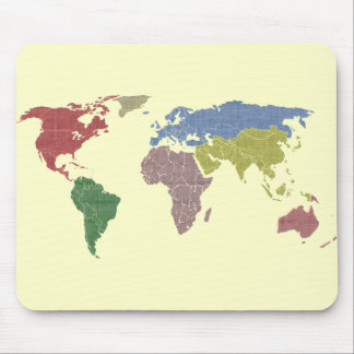 earth world cloth mouse mat