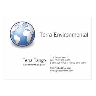 Earth World Globe Tango Large Business Card