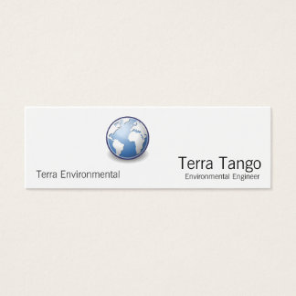 Earth World Globe Tango Mini Business Card