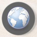 Earth World Globe Tango Sandstone Coaster