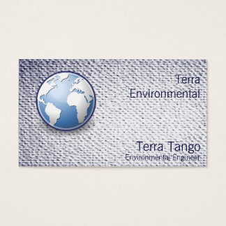 Earth World Globe Tango Textured Look Business Card