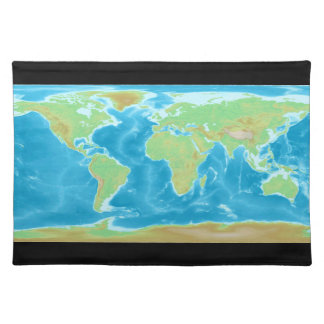 Earth World Map Placemat Cloth Placemat
