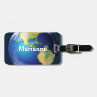 Earth World Planet Design Luggage Tags
