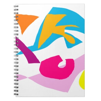 Earth Yellow Moon Sky Mountain Paddle Field Spiral Notebook