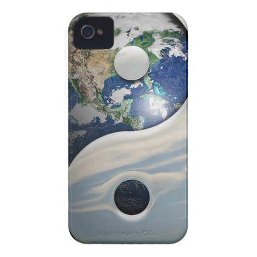 Earth Yin and Yang Symbol iPhone 4 Case-Mate Cases