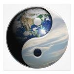 Earth Yin and Yang Symbol Photo