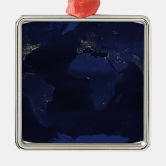 Earth�s human-generated nighttime lights Metal Ornament