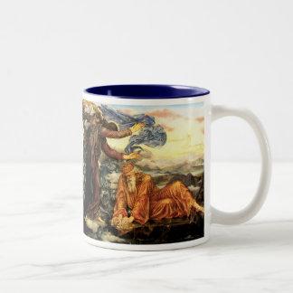 Earthbound by Evelyn De Morgan Two-Tone Coffee Mug