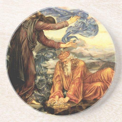 Earthbound by Evelyn De Morgan, Vintage Fine Art Drink Coaster