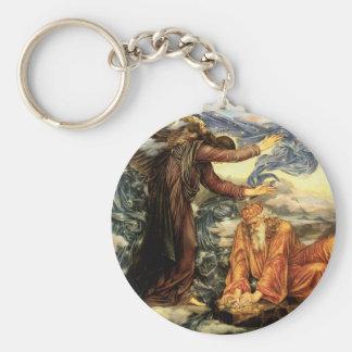 Earthbound by Evelyn De Morgan, Vintage Fine Art Key Chains
