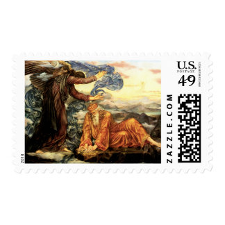 Earthbound by Evelyn De Morgan, Vintage Fine Art Stamps