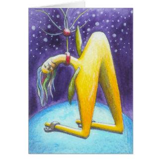 """Earthbound"" Surreal Art Notecard by Ashazart"