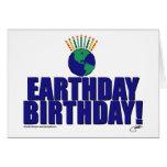 Earthday Birthday Greeting Card