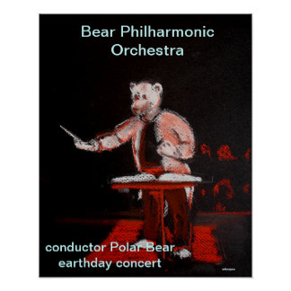 earthday concert by conductor Polar Bear Print