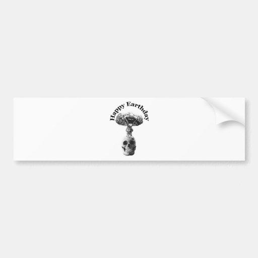 Earthday feliz etiqueta de parachoque