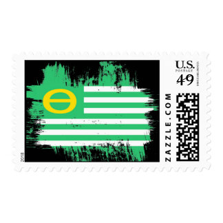 earthday flag postage stamp