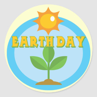 Earthday Shirts and Gifts Classic Round Sticker