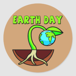 Earthday T Shirts and Gifts Round Stickers