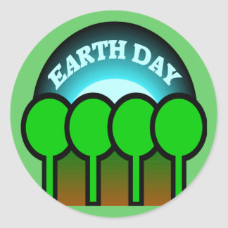 Earthday T Shirts and Gifts Classic Round Sticker