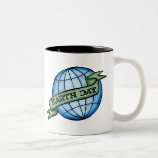 Earthday T Shirts and Gifts Two-Tone Coffee Mug